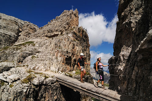 Climbing in the Dolomites